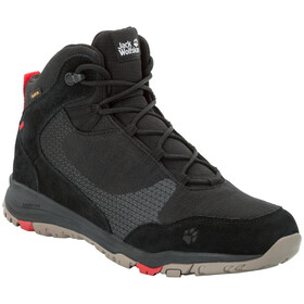 Jack Wolfskin Activate XT Texapore Mid Kengät Miehet, black/red